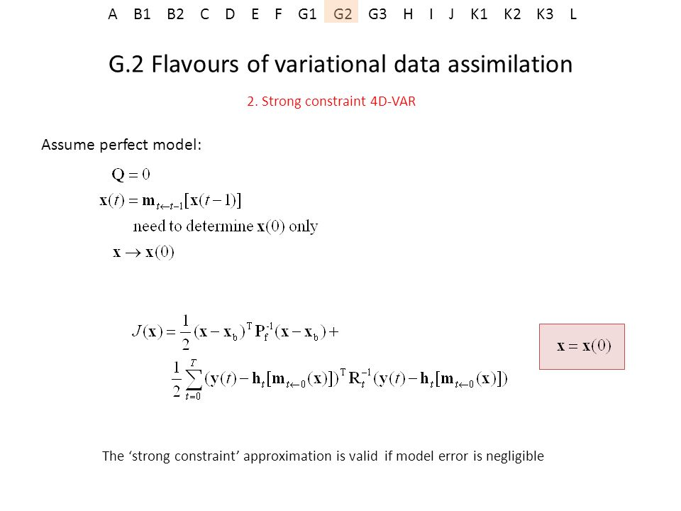 G.2 Flavours of variational data assimilation