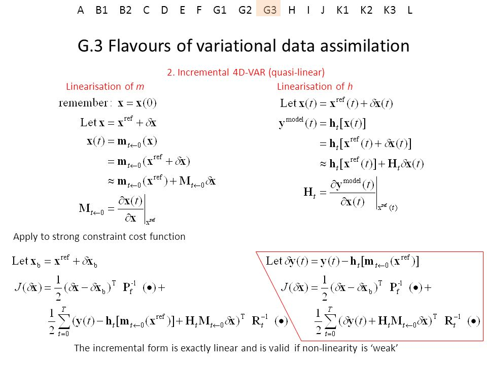 G.3 Flavours of variational data assimilation