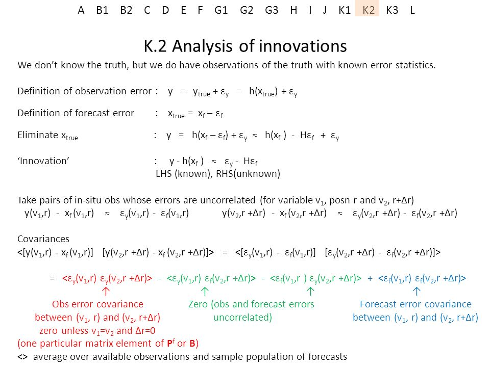 K.2 Analysis of innovations