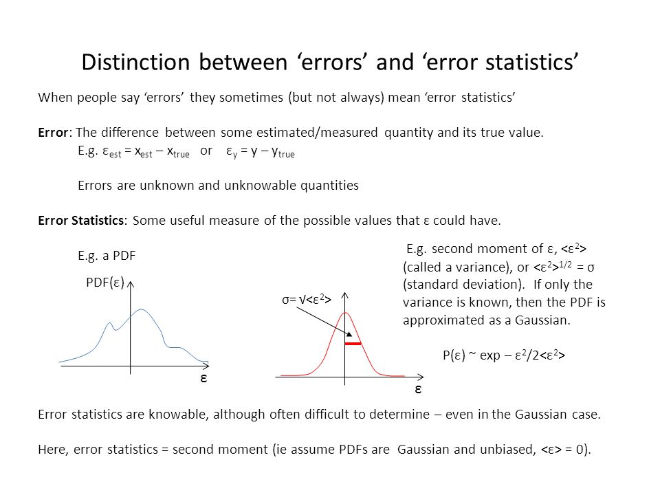Distinction between 'errors' and 'error statistics'
