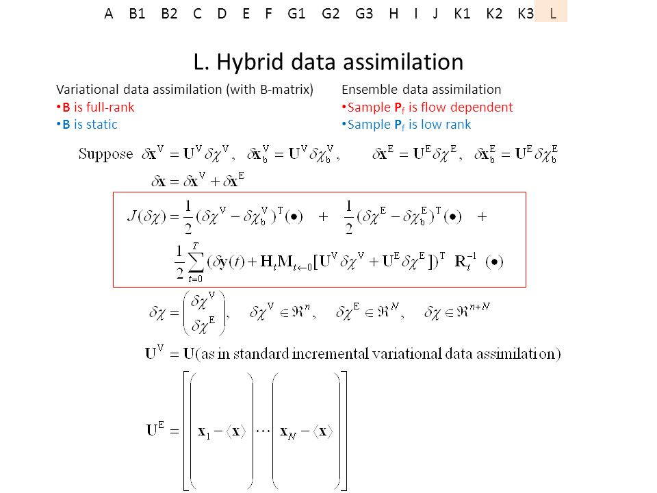 L. Hybrid data assimilation