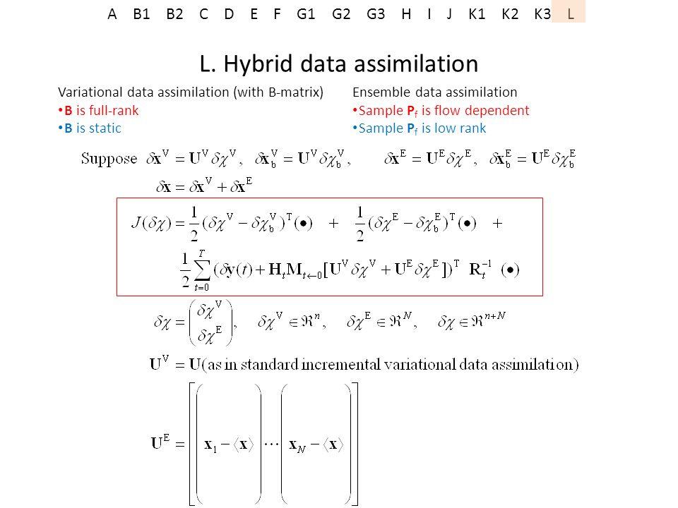 L. Hybrid data assimilation