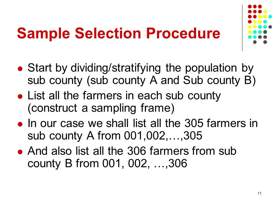 Sample Selection Procedure