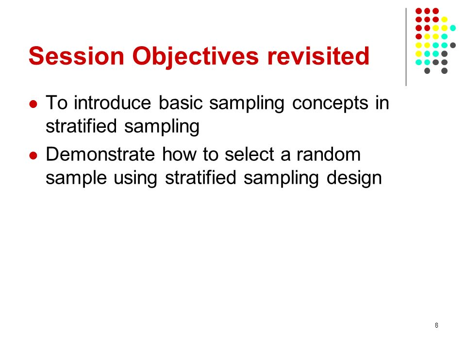 Session Objectives revisited
