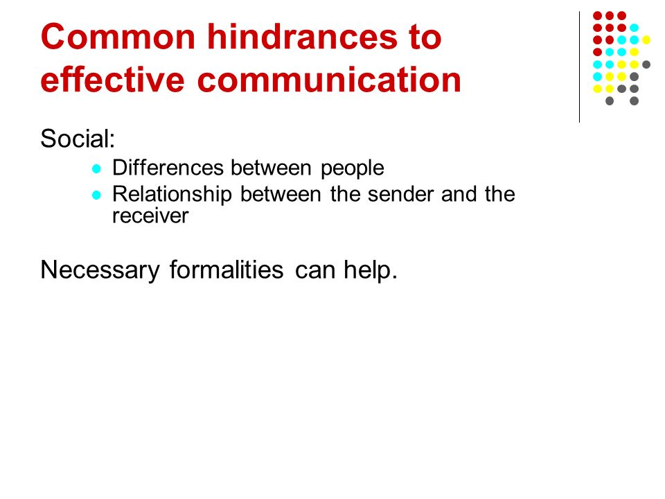 Common hindrances to effective communication