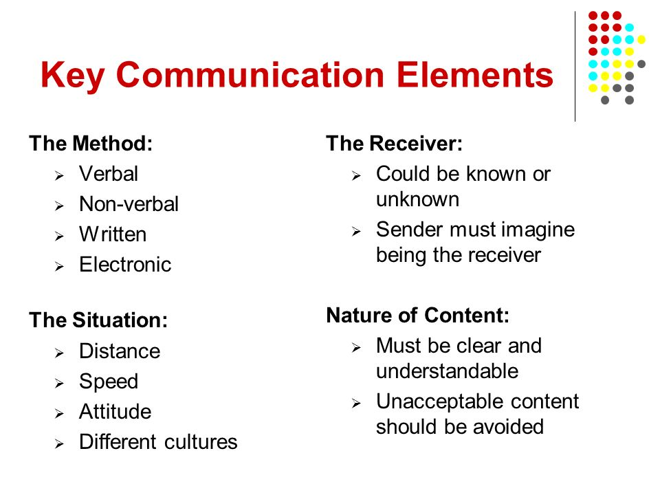 Key Communication Elements
