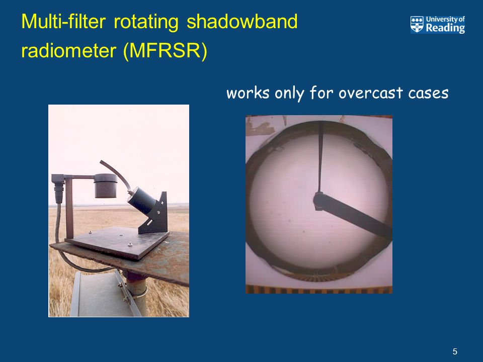 Multi-filter rotating shadowband radiometer (MFRSR)