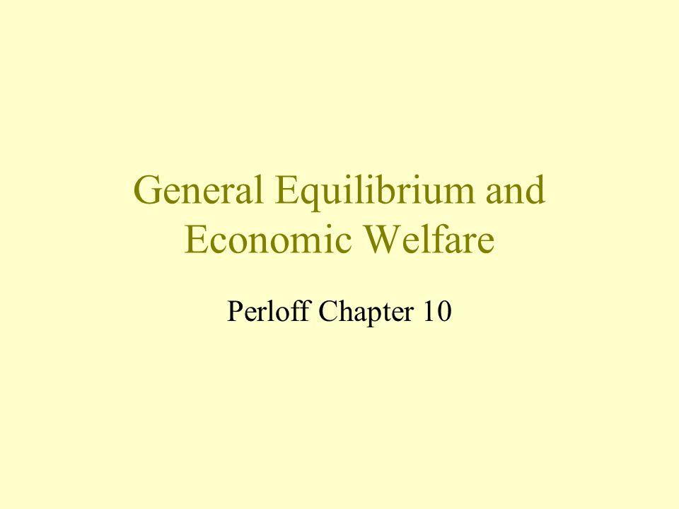 General Equilibrium and Economic Welfare