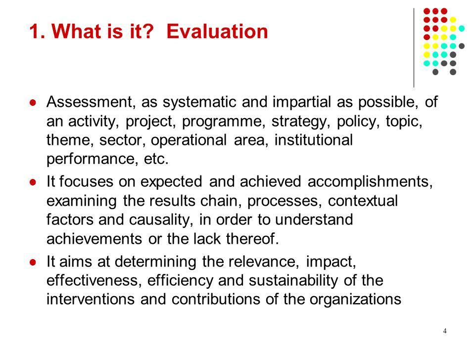 28/03/2017 1. What is it Evaluation.