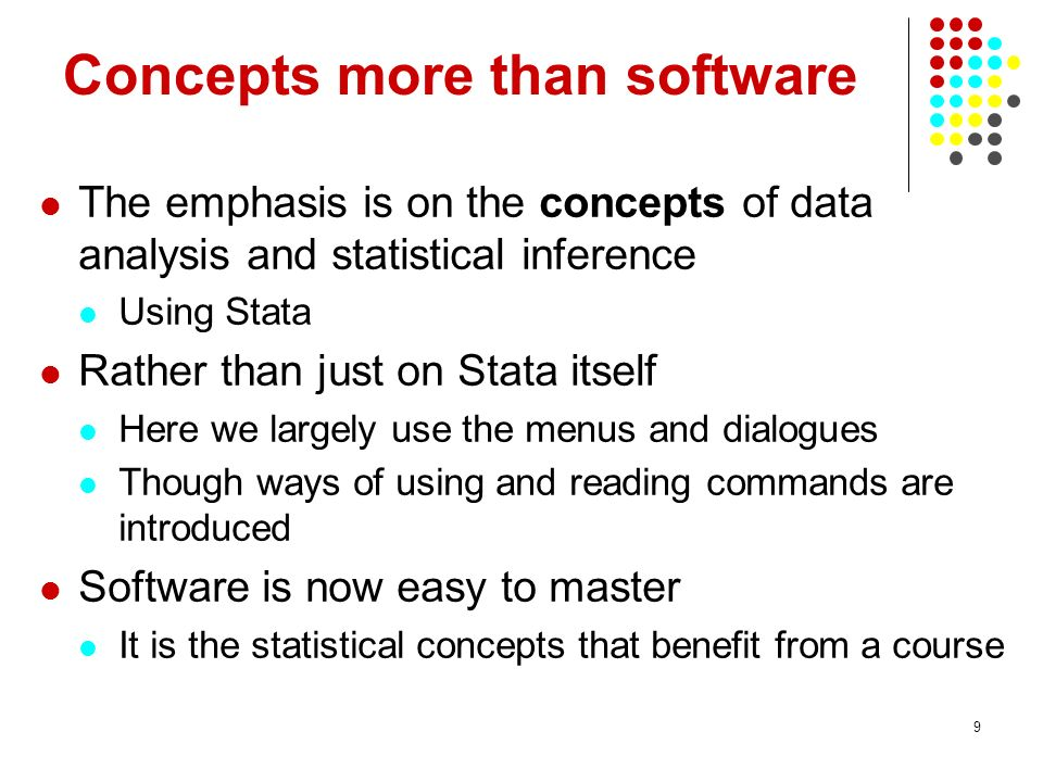 Concepts more than software