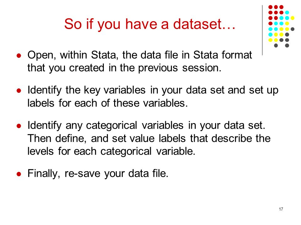 So if you have a dataset…
