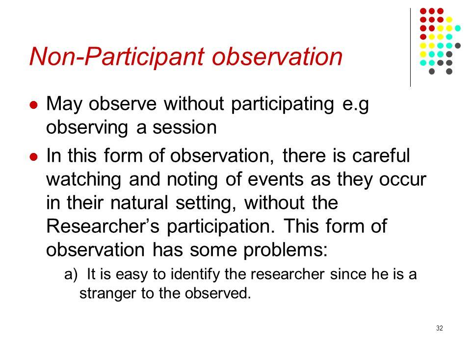 Non-Participant observation