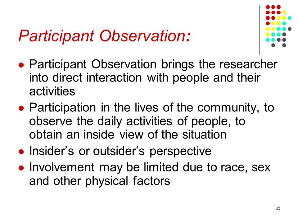 Participant Observation: