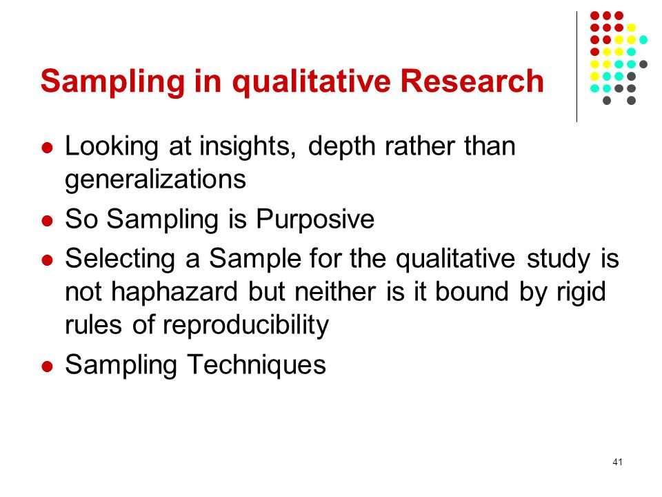 sampling in social research In research, a sample is a subset of a population that is used to represent the entire group learn more about why sampling is used.