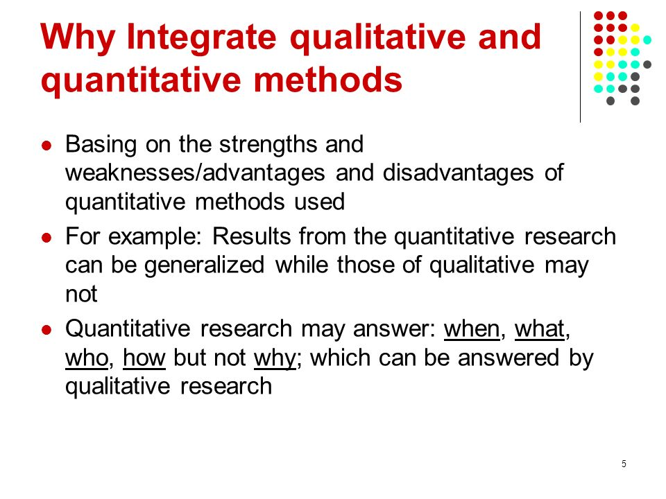 advantage and disadvantage of quantitative research