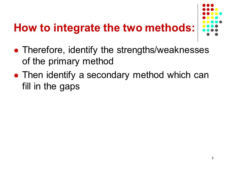 How to integrate the two methods: