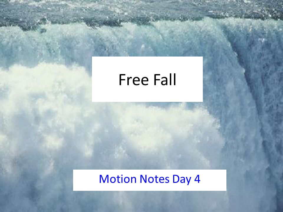 free fall motion A free falling object is an object that is falling under the sole influence of gravity  any object that is being acted upon only by the force of gravity is said to be in a.