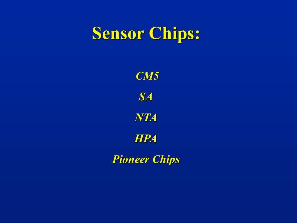 Sensor Chips: CM5 SA NTA HPA Pioneer Chips