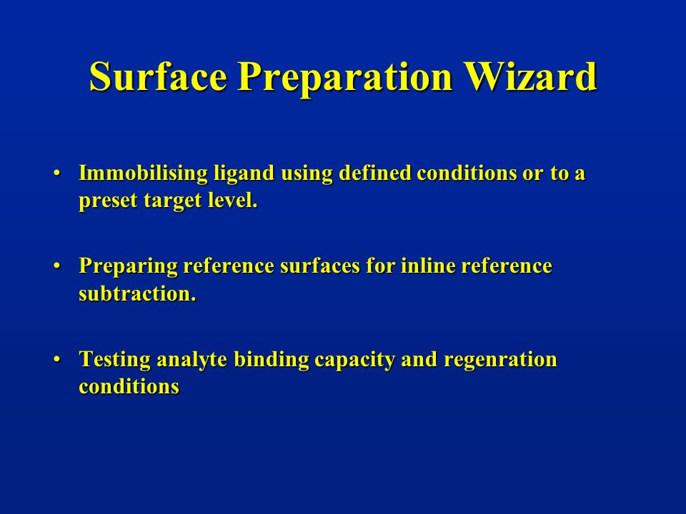 Surface Preparation Wizard