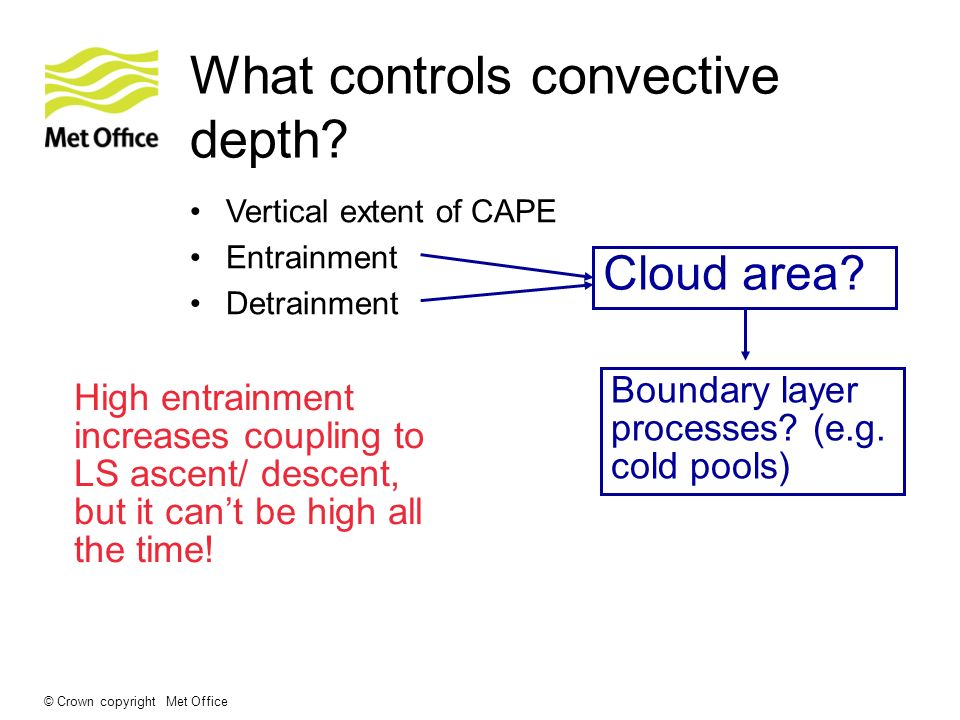 What controls convective depth