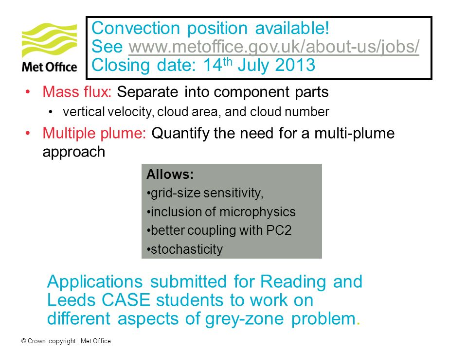 Higher resolutions Convection position available!
