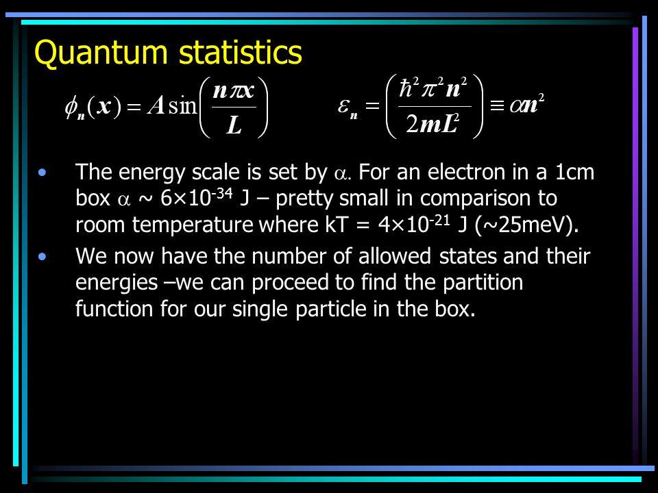 Quantum statistics