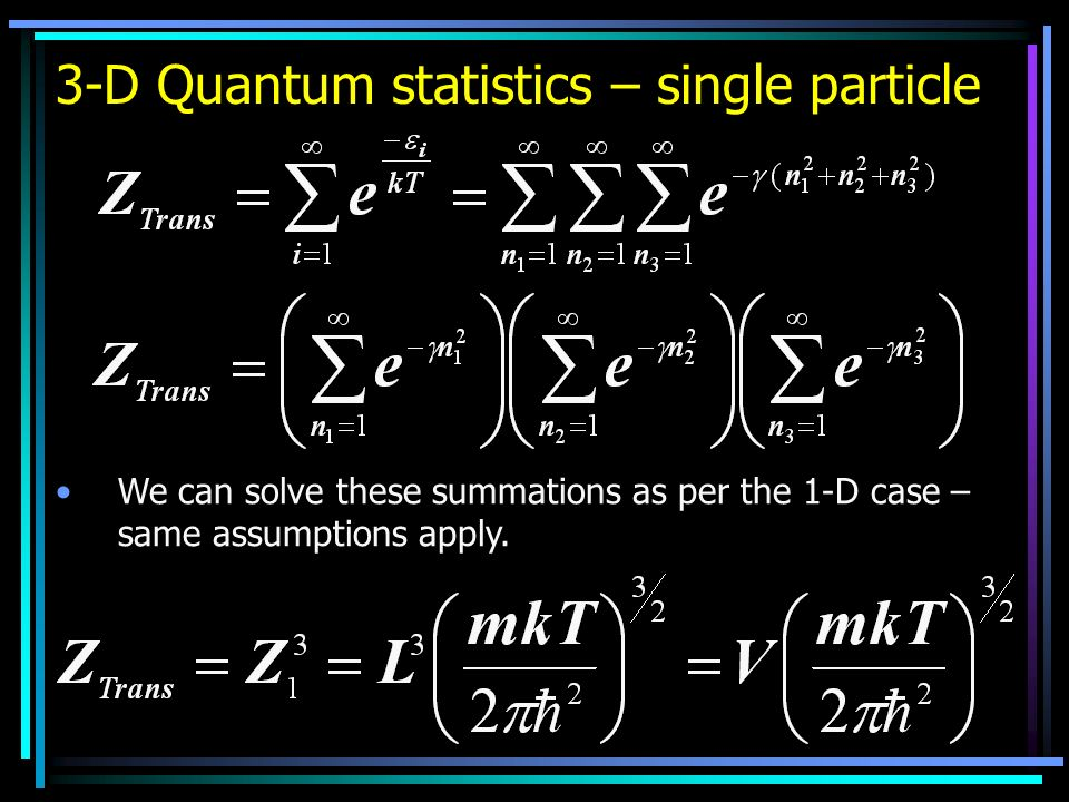 3-D Quantum statistics – single particle