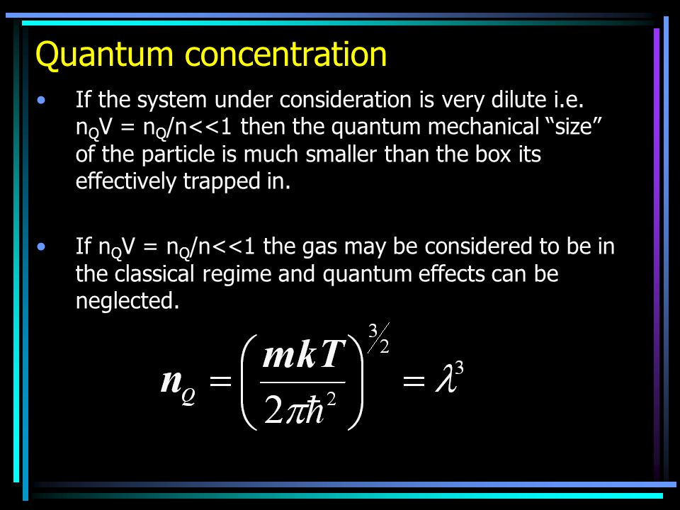 Quantum concentration
