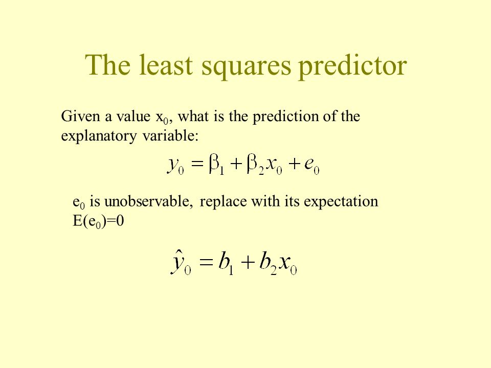 The least squares predictor