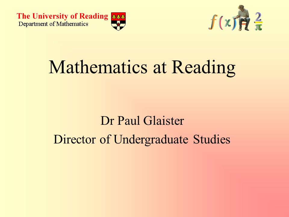 Mathematics at Reading