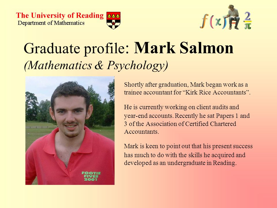 Graduate profile: Mark Salmon (Mathematics & Psychology)
