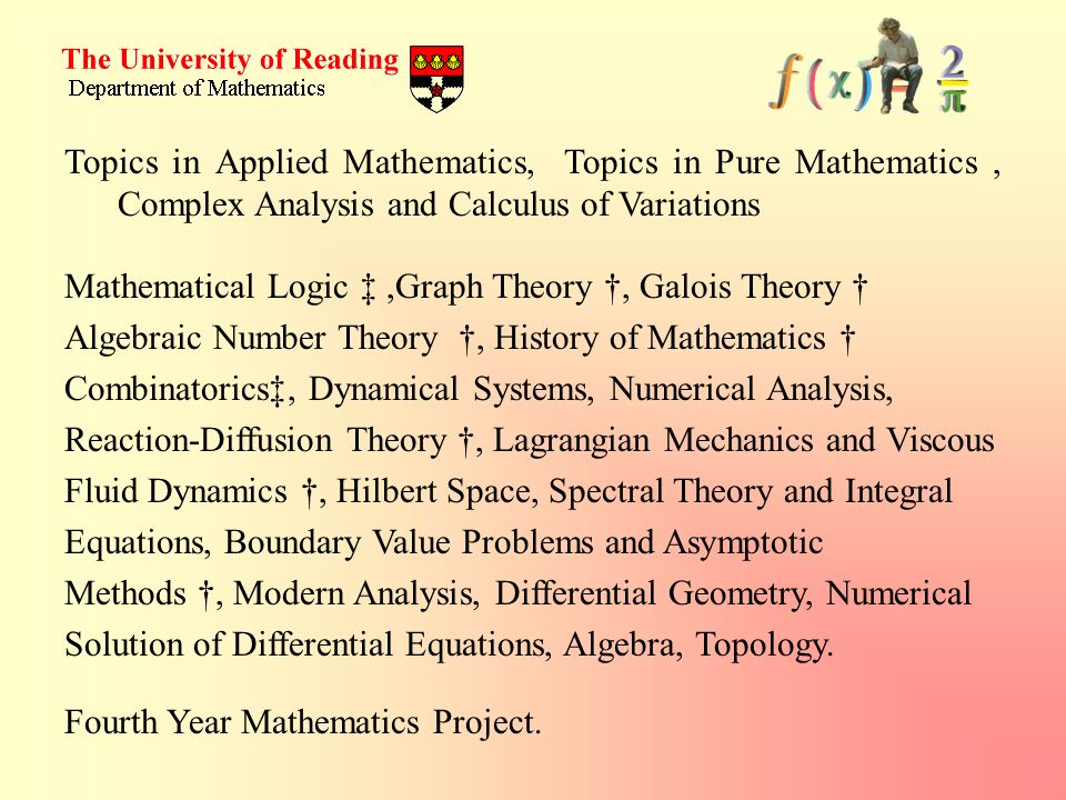 Topics in Applied Mathematics, Topics in Pure Mathematics , Complex Analysis and Calculus of Variations