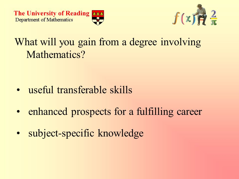 What will you gain from a degree involving Mathematics