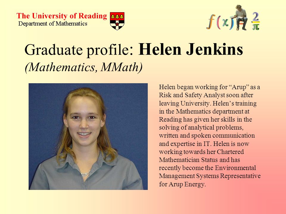 Graduate profile: Helen Jenkins (Mathematics, MMath)
