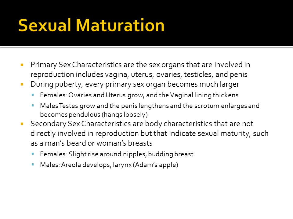 Sexual Maturation
