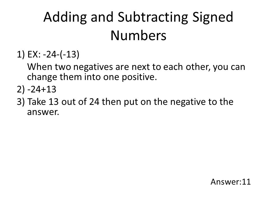 Subtracting Signed Numbers Worksheet - The Best and Most ...