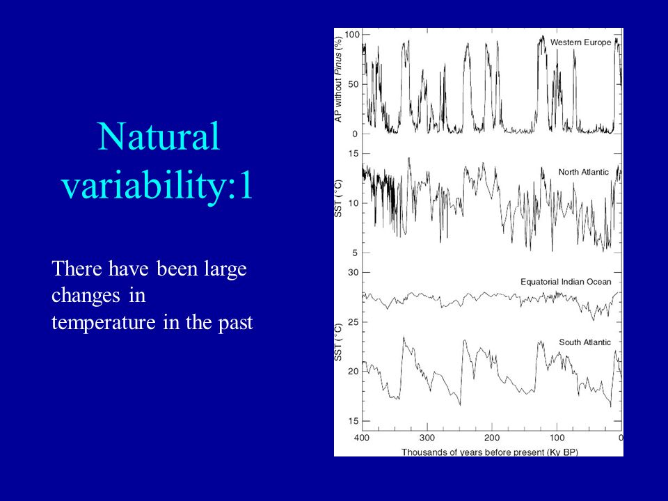 Natural variability:1 There have been large changes in temperature in the past