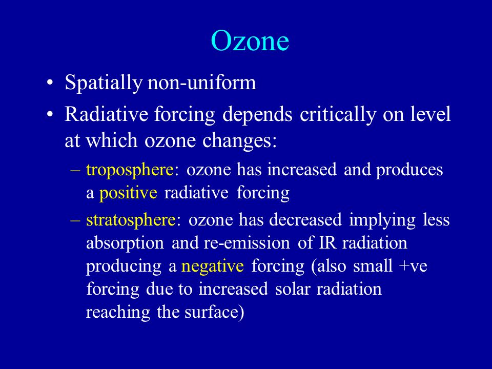 Ozone Spatially non-uniform