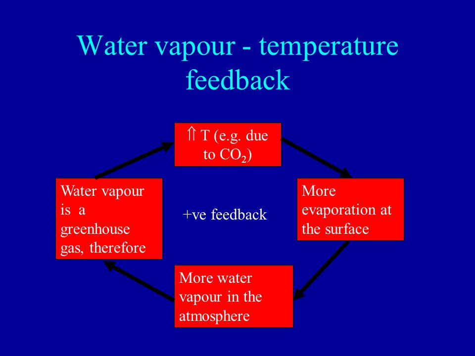 Water vapour - temperature feedback