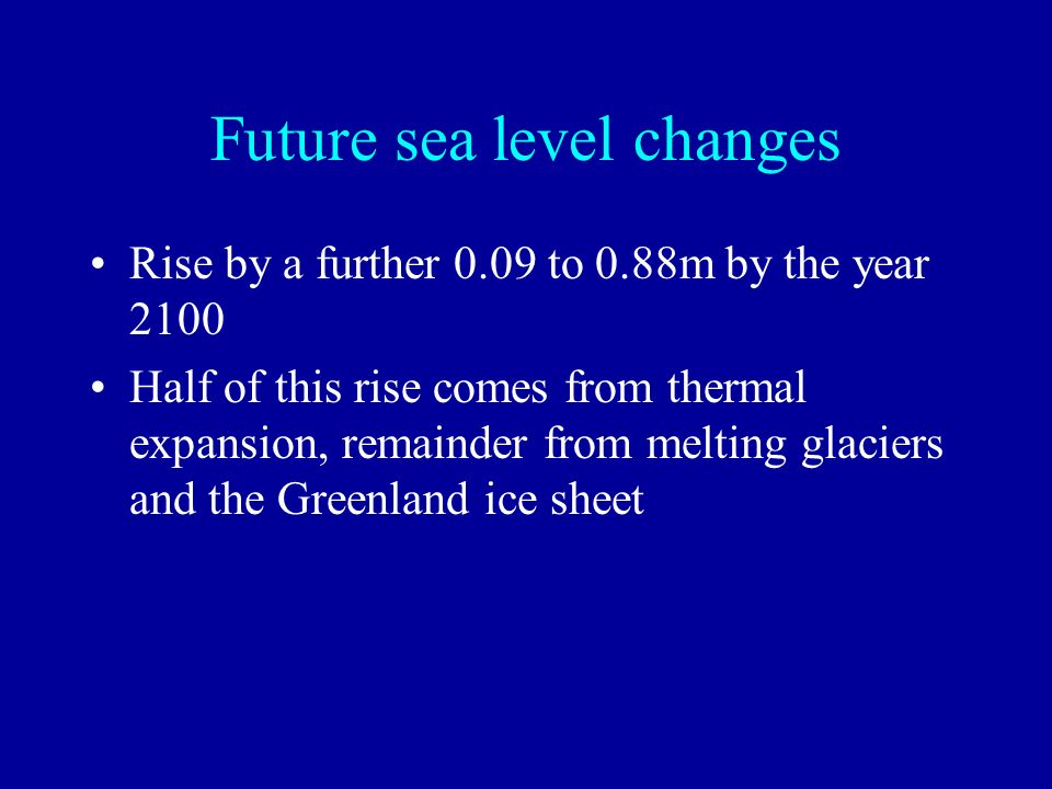 Future sea level changes