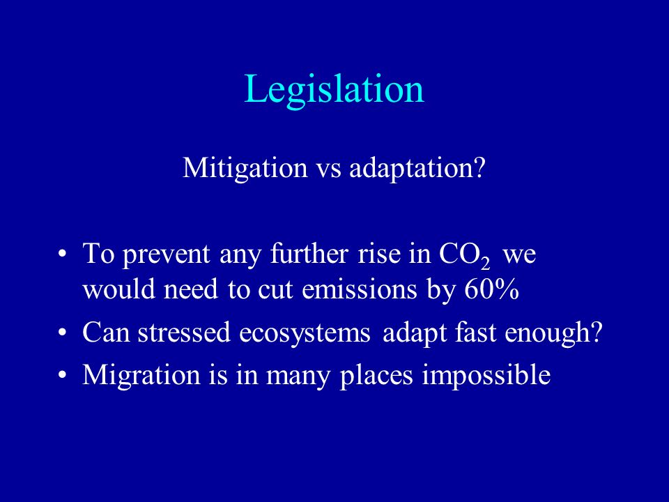 Mitigation vs adaptation