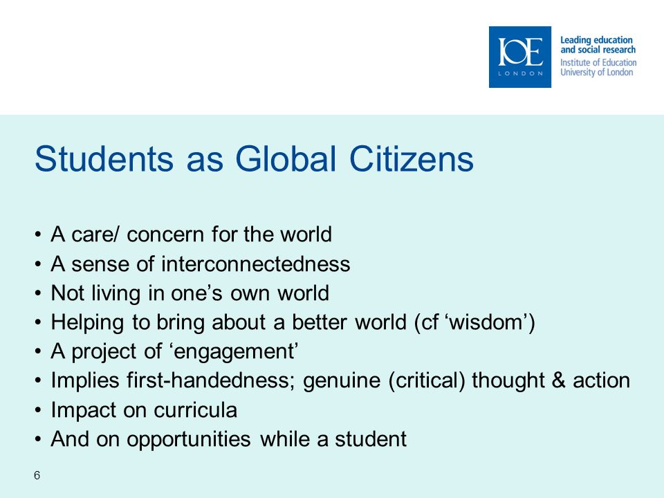 Students as Global Citizens