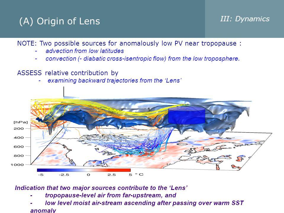 (A) Origin of Lens III: Dynamics