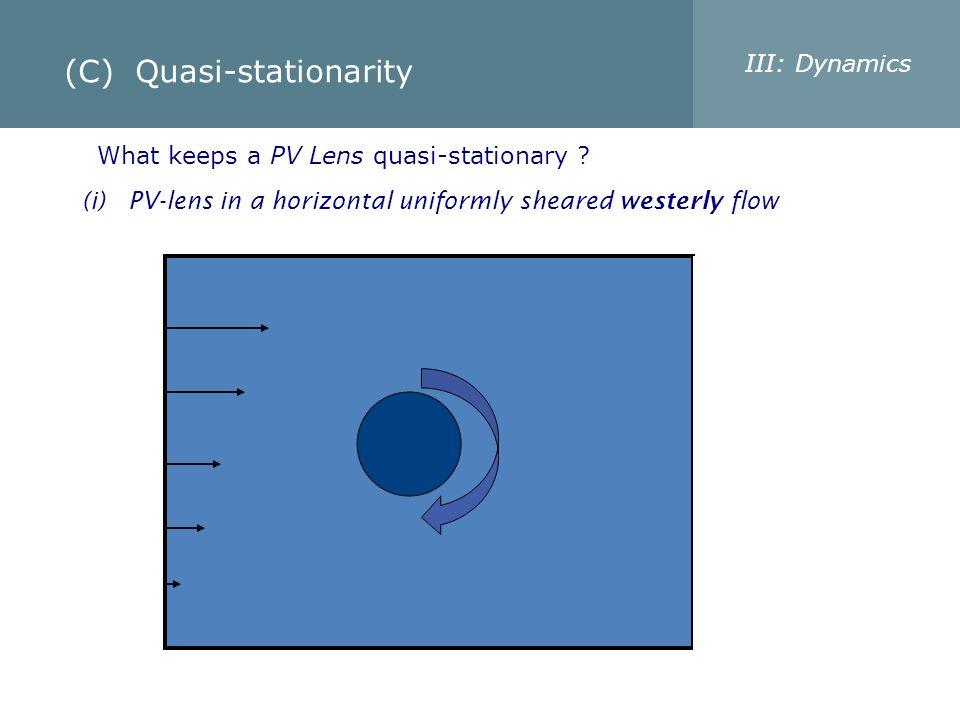 (C) Quasi-stationarity