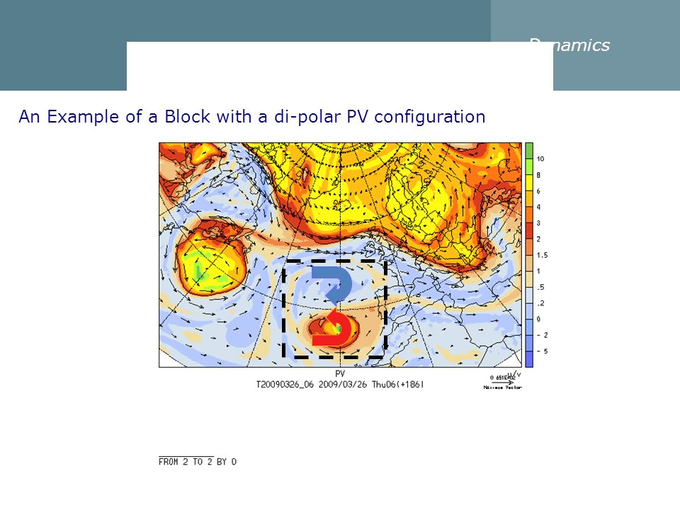 Dynamics An Example of a Block with a di-polar PV configuration