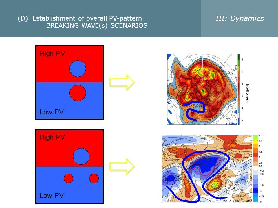(D) Establishment of overall PV-pattern