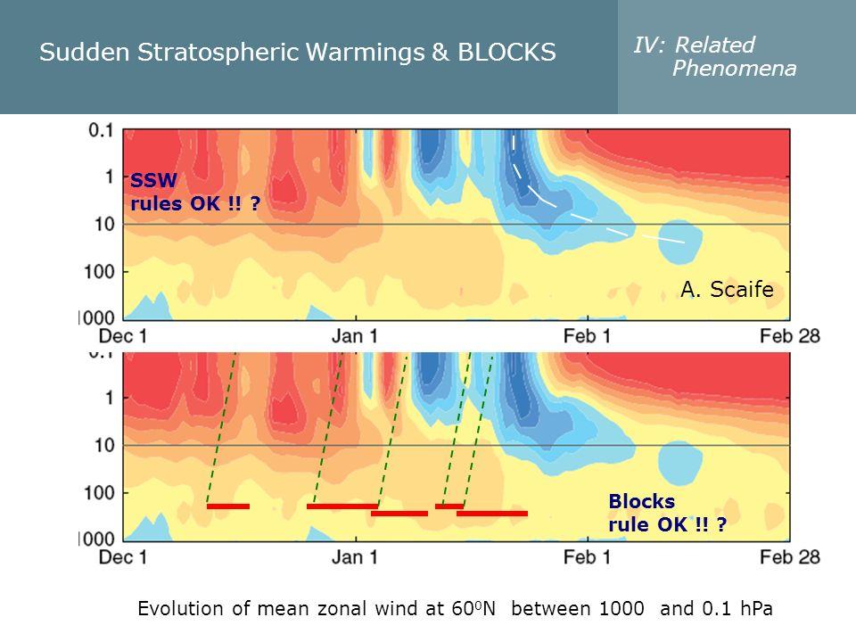 Sudden Stratospheric Warmings & BLOCKS