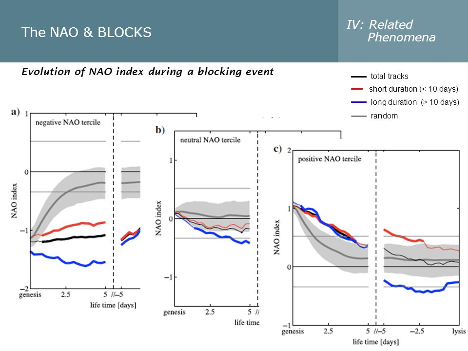 The NAO & BLOCKS IV: Related Phenomena