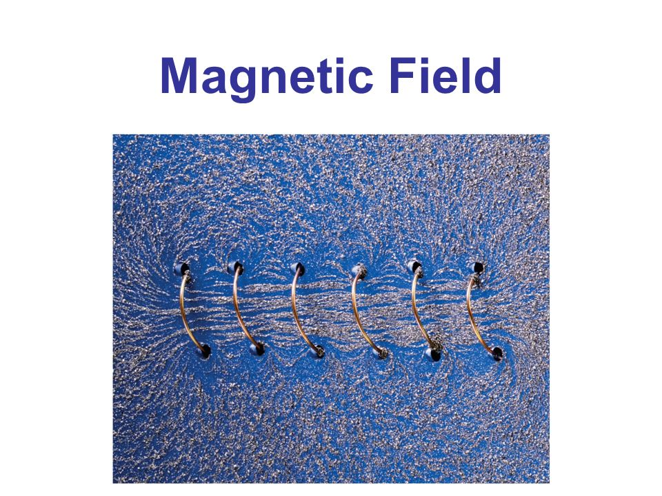 Magnetic Field Chapter 28 opener. A long coil of wire with many ...