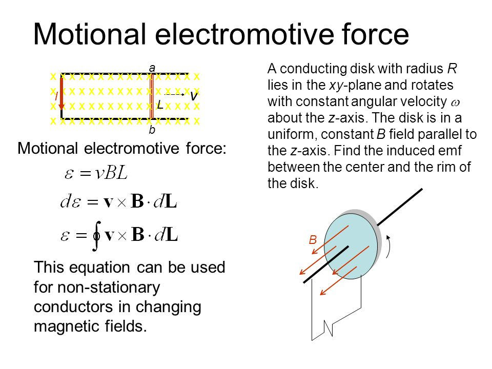 electromotive force constant